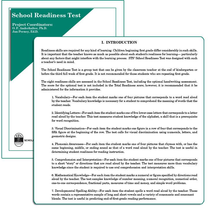 School Readiness Test (SRT)